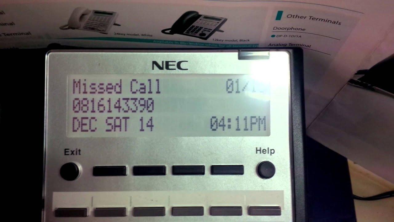 incoming call history key , NEC SL1000 by ISACENGINEERING