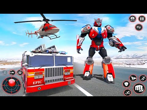 Download Rescue Robot Transform Game 2021 - FireTruck Helicopter Robot - Android Gameplay