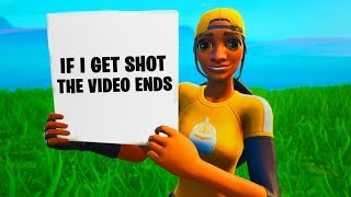 Si je reçois Shot The VIDEO ENDS! à Fortnite! Battle Royale (Fortnite Saison X)