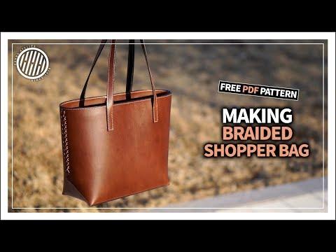 [Leather Craft] Braided shopper bag / Free Pdf Pattern