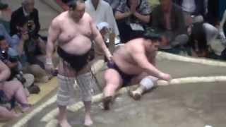 20140511 安美錦vs栃煌山 大相撲夏場所初日 注文相撲はちょっと.