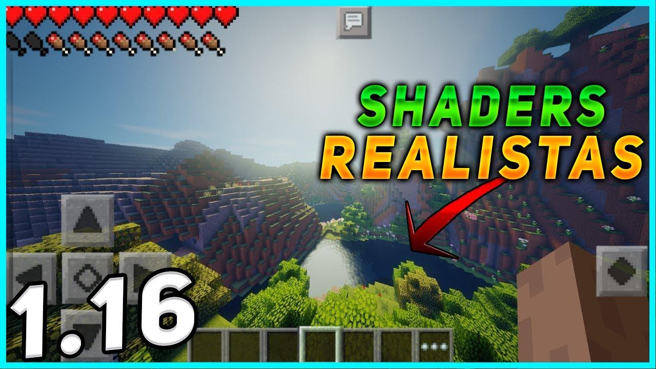 Minecraft PE 1.16 SHADERS REALISTA PARA GAMA BAJA -  MCPE SHADERS