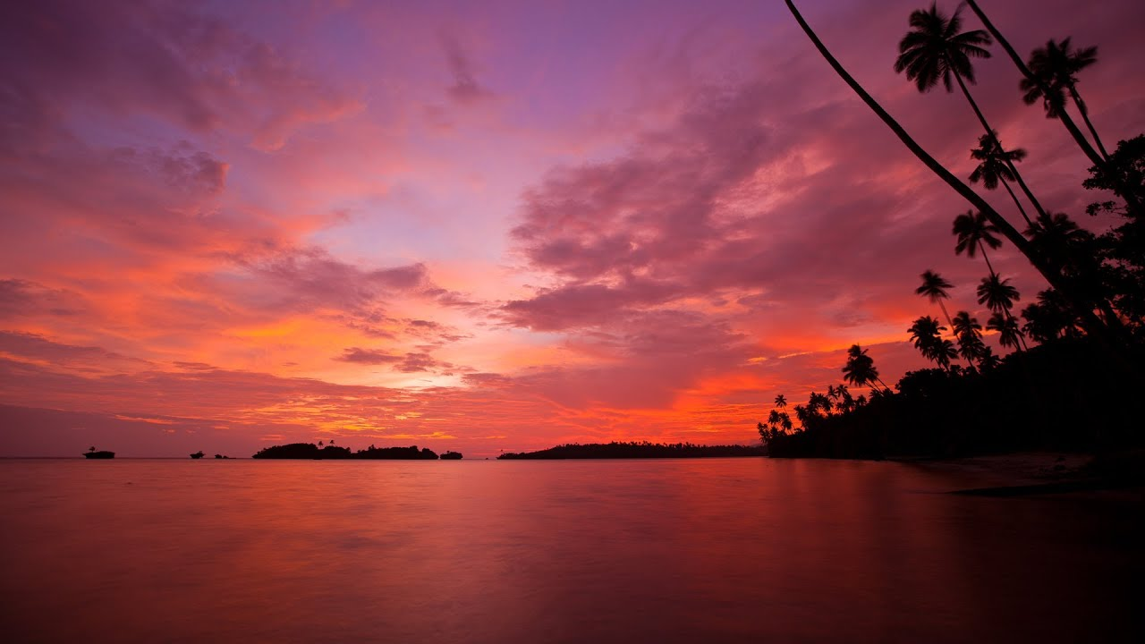 Time Lapse    Tropical Sunrise  Sunset  And Clouds  1080p