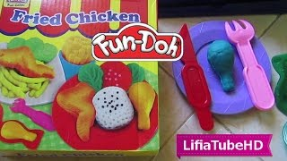 Asik mainan anak perempuan - Fun doh ayam goreng - Fried chicken dough - kids toy