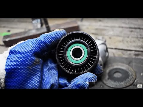 BELT IDLER TENSIONER PULLEY and OLD RIBBED BELT ??? / 2 GENIUS DIY IDEAS MADE FROM OLD CAR PARTS
