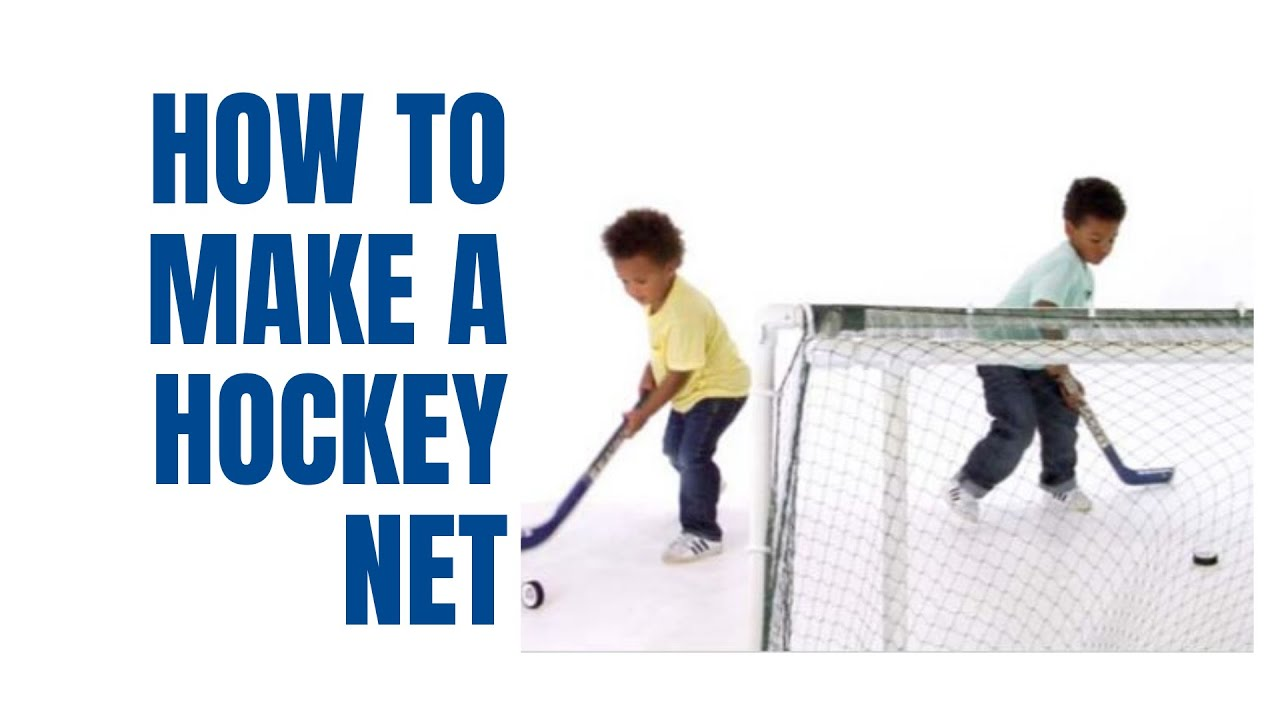 How to make a hockey net with PVC pipe - YouTube