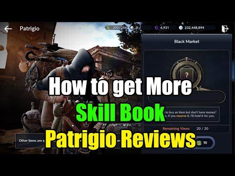 Black Desert Mobile How to Get More Skill Book & Patrigio Reviews