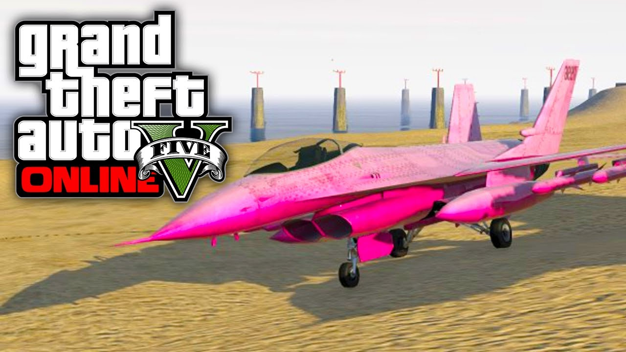 Jet Privato Gta 5 : Gta online how to get a pink fighter jet v youtube