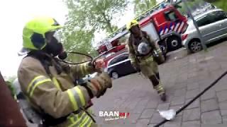 Brandweer Prio 1 woningbrand, Rotterdam