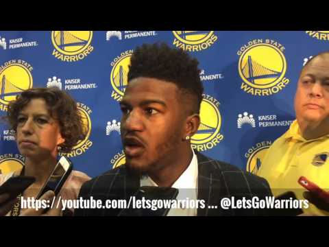 JORDAN BELL interview scrum, Golden State Warriors 2017 NBA Draft pick introduction