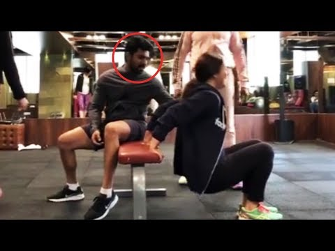 Ram Charan Making Fun With His Wife Upasana @ GYM   Manastars