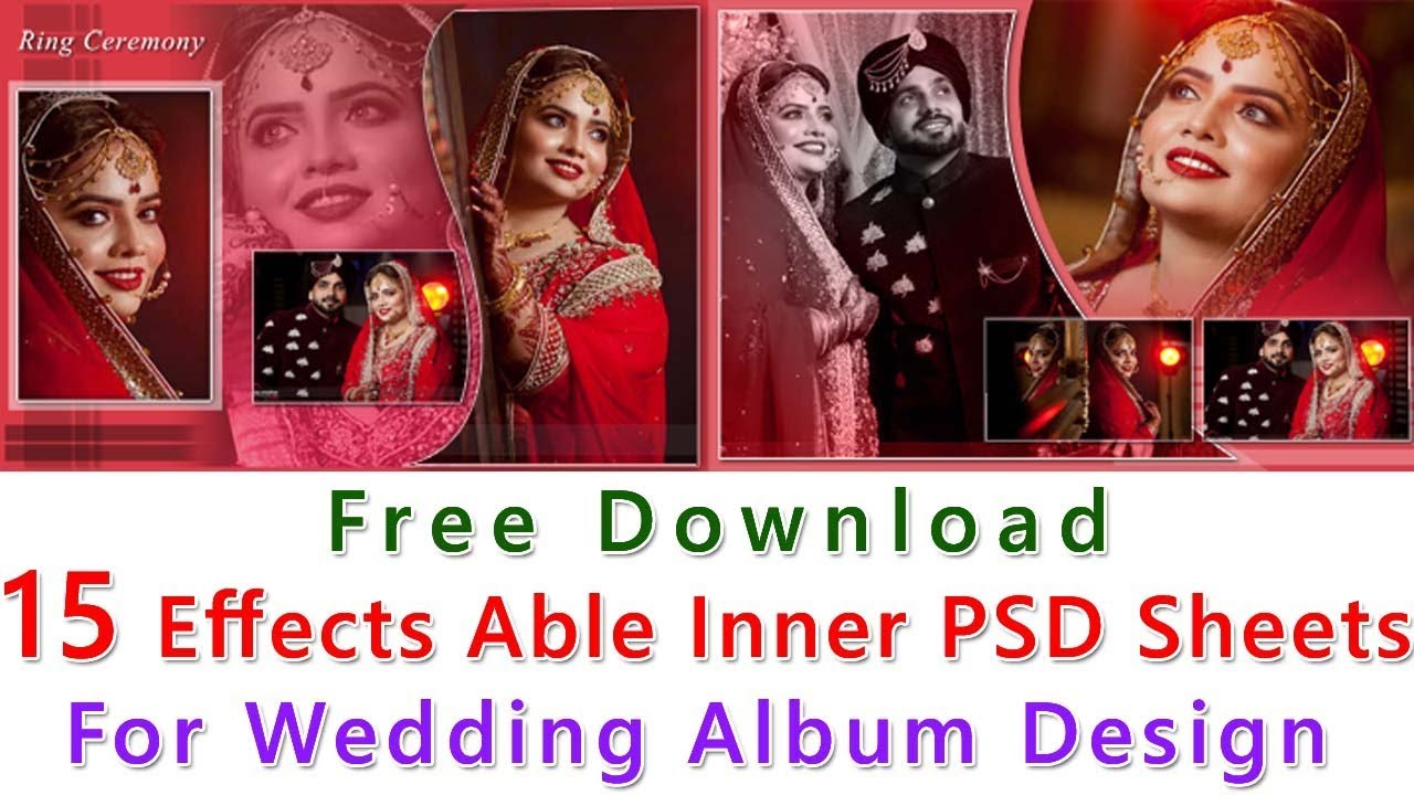 Free Download 15 Effects Able Inner Psd Sheets For Wedding Album Design By Studiopk In Youtube