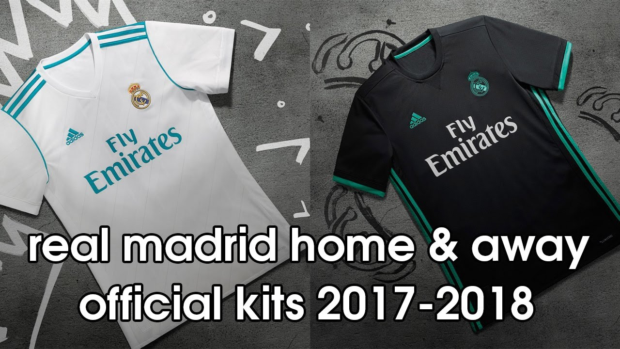 Real Madrid Home & Away Official Kits 2017-2018
