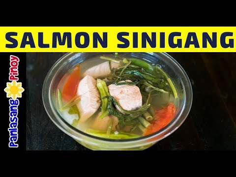 How To Cook Salmon Sinigang - Panlasang Pinoy