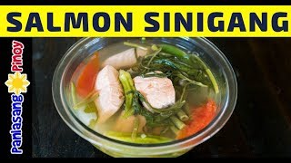How To Cook Salmon Sinigang Panlasang Pinoy Youtube