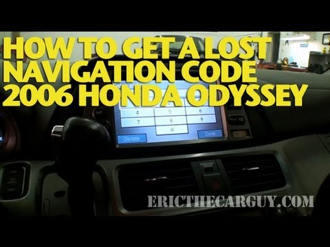 How To Retrieve Navigation Code, 2006 Honda Odyssey -EricTheCarGuy