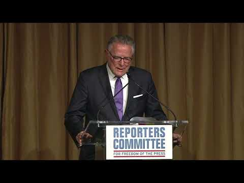 David Boardman speaks at 2018 Freedom of the Press Awards