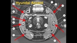 Hyundai Accent (хендай акцент) ЗАМЕНА задних Колодок