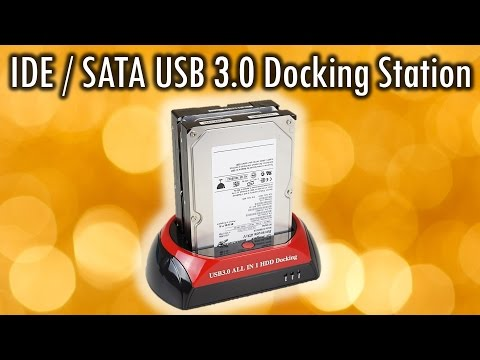 IDE SATA USB 3.0 Docking Station review and demonstration
