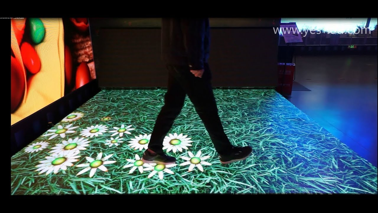 MAGIC STAGE screen used as an interactive dance floor