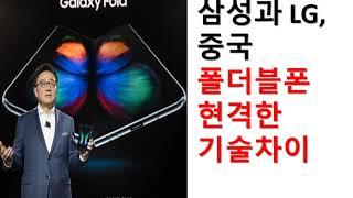 삼성, LG, 중국 폴더블폰 현격한 기술차이