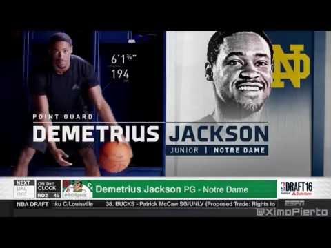 2016 NBA Draft   #45 Pick׃ Demetrius Jackson   Boston Celtics