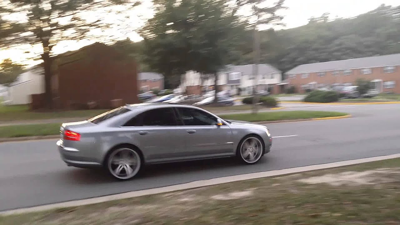 2008 Audi A8 On 22 Inch Verde Parallax Youtube