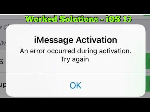 iPhone Stuck on Waiting for Activation An error occurred during activation iMessage iOS 13 - Fixed