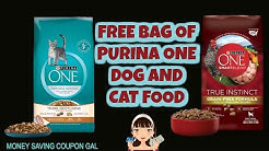 FREE BAG OF PURINA ONE DOG AND CAT FOOD