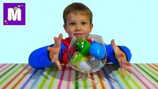 Лизуны и слизни в яйцах сюрприз игрушки динозавры slimy toys in surprise eggs