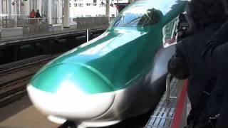 E5系、最速320キロ披露 東北新幹線で走行試験
