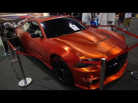 Chrome Car Wrap >> Unique Dodge Charger SRT8 @ MEMTS 2014!! - YouTube