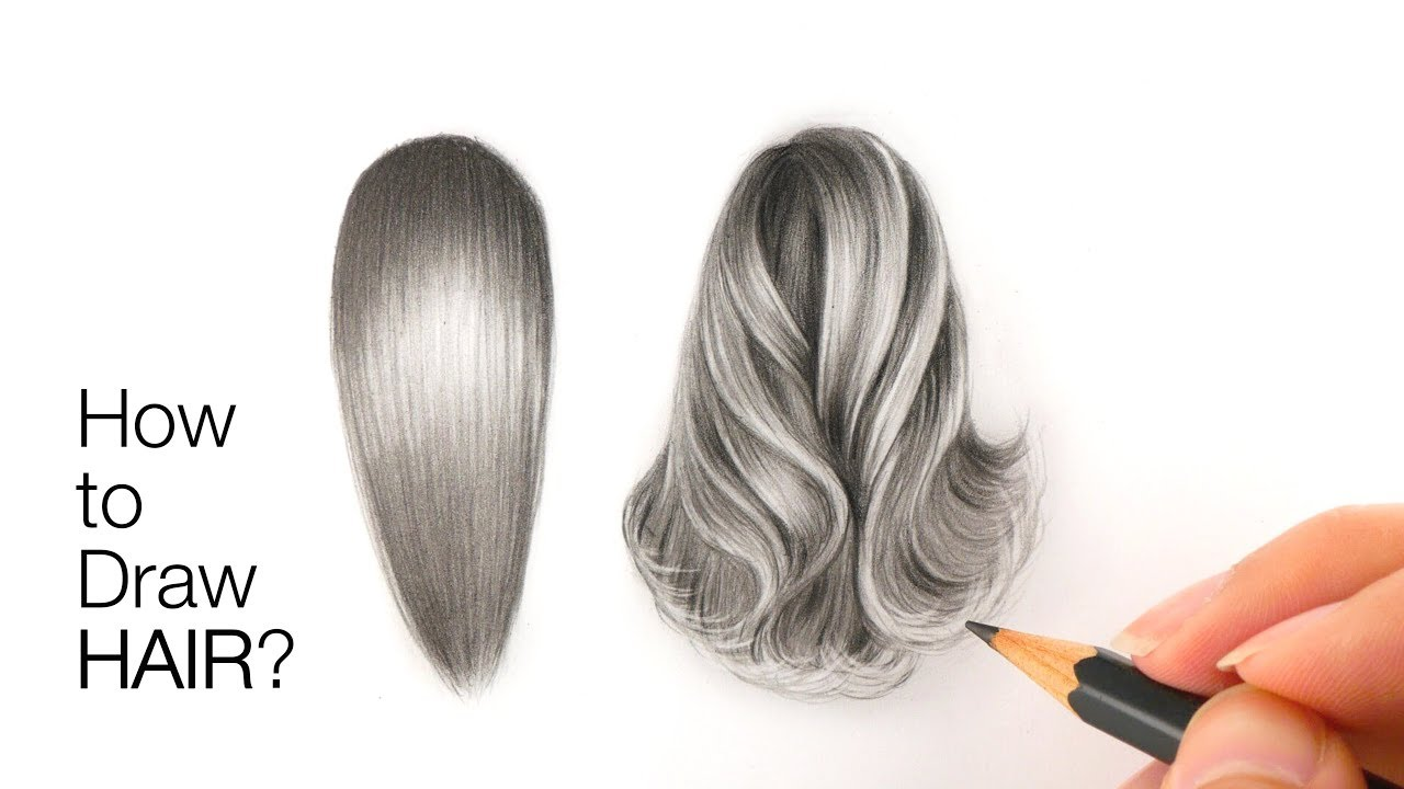 Best secrets to drawing realistic hair in graphite in pencil
