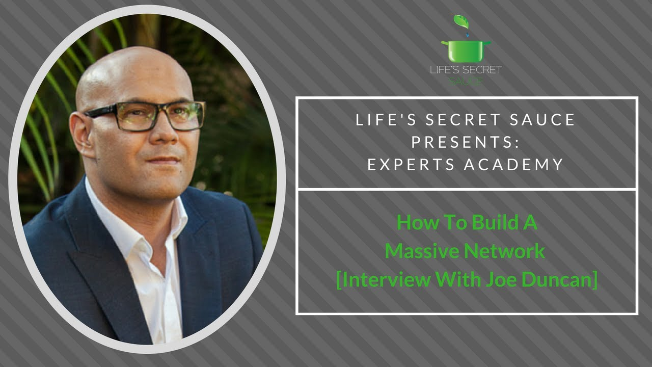 How to quickly build a massive network interview with joe duncan how to quickly build a massive network interview with joe duncan malvernweather Gallery
