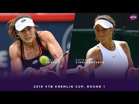 Alizé Cornet vs. Natalia Vikhlyantseva | 2018 VTB Kremlin Cup Round One | WTA Highlights