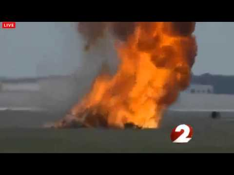 DRAMATIC VIDEO!! JANE WICKER PLANE CRASH DAYTON AIR SHOW!!! 6 22 13