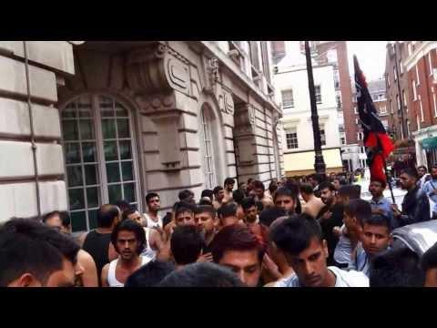 markazi matami sangat NohaKhan Leeds Party   Matamdari outside SaudiLA) embassy (