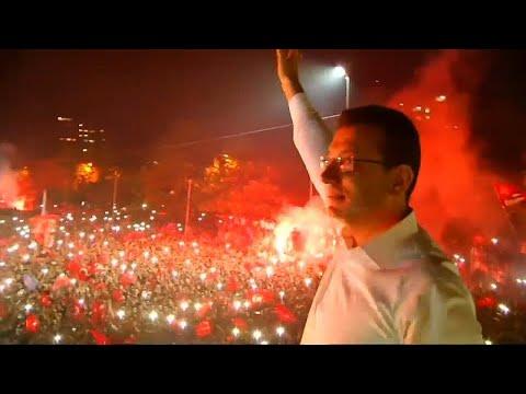 فيديو: جمهور المعارضة في إسطنبول يحتفل -بالفوز التاريخي- على إردوغان…  - نشر قبل 3 ساعة