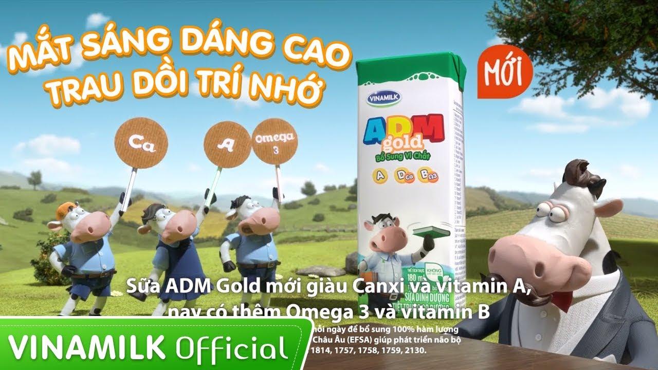 Quảng cáo sữa Vinamilk – Sữa ADM Gold mới – Mắt sáng dáng cao, trau dồi trí nhớ (35s)