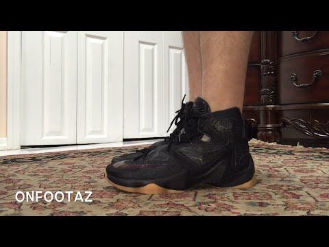 hot sale online c55ef 24a3c Nike Lebron 13 XIII Black Lion On Foot