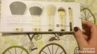 bh cosmetics face essential 5 piece brush set review