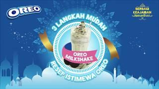 3 Langkah Mudah Resep Istimewa Oreo - Oreo Milkshake