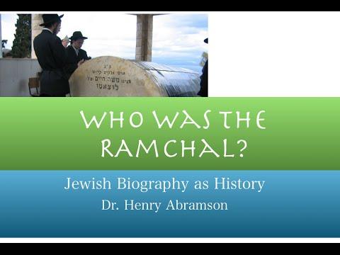 Rabbi Moshe Hayim Luzzatto Jewish History Lecture Dr. Henry Abramson