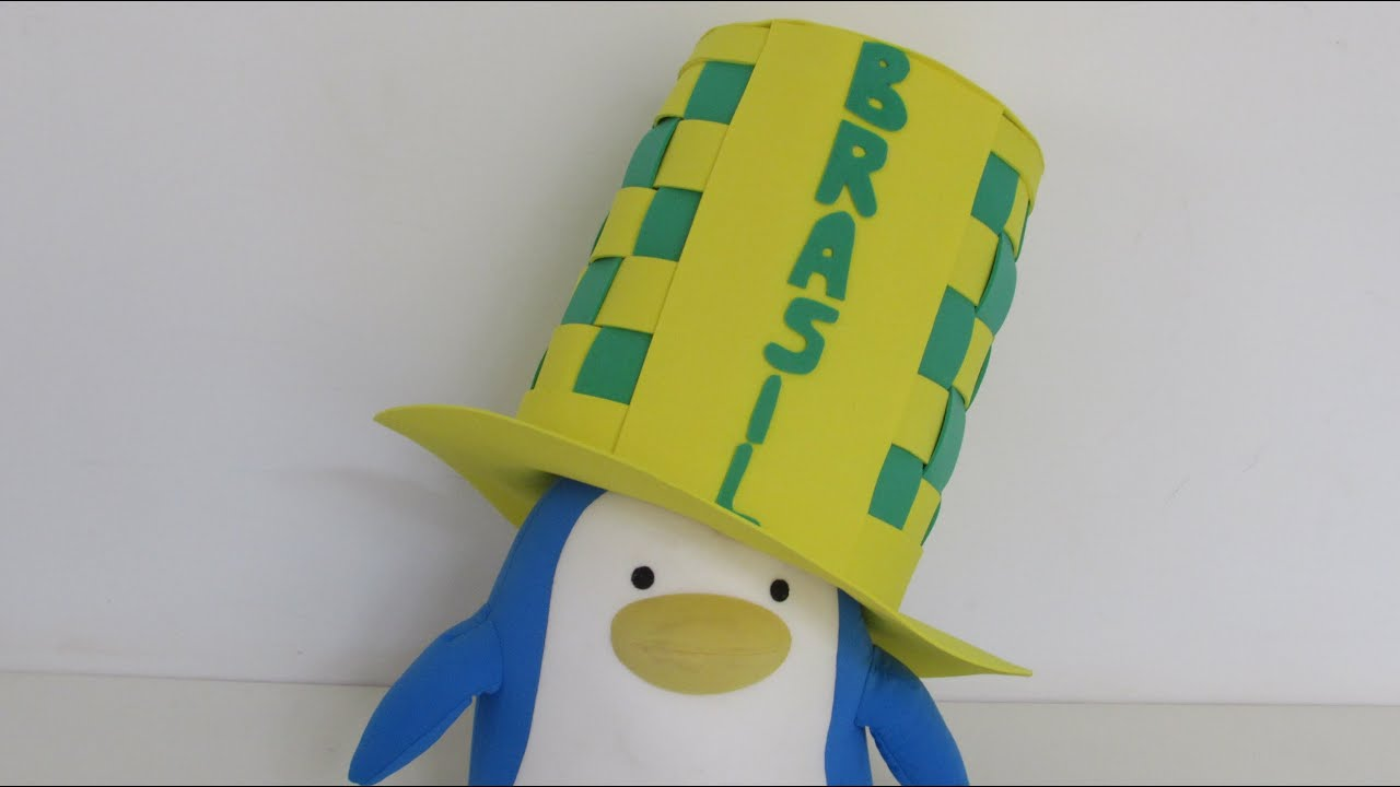 Como fazer chapéu para assistir aos jogos do Brasil - YouTube 3e8d9c2a163