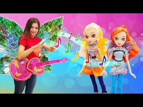 Новые куклы для девочек. Звездная магия Winx. Веселые увлекательные игры.