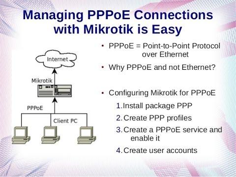 Mikrotik PPPoE Server And PPPoE Client Setup