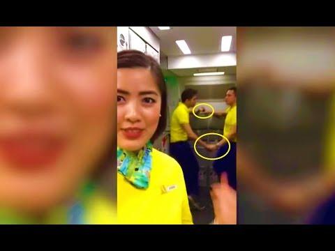 [GRABE] 2 Cebu Pacific Flight Attendant Huli Sa Akto