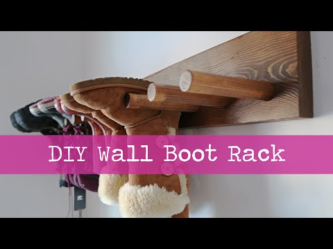 Diy wall boot rack plans youtube diy wall boot rack plans solutioingenieria Image collections