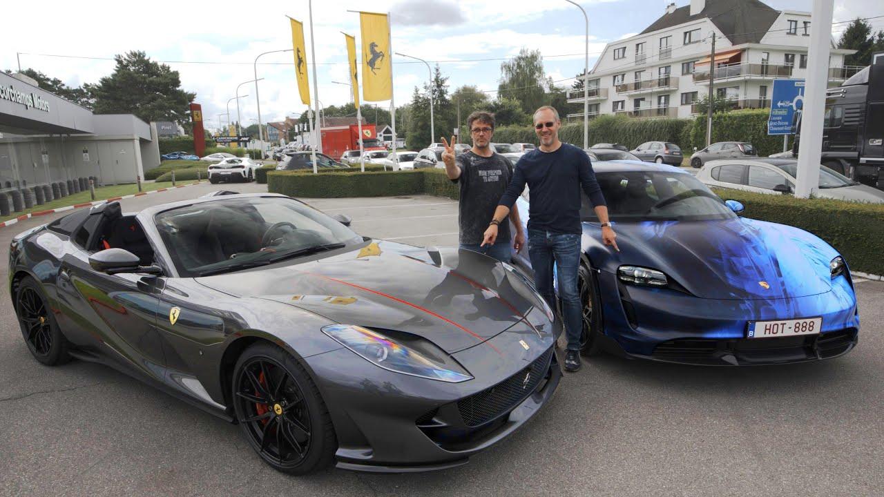 Livraison d'une Porsche et d'une Ferrari ce matin !