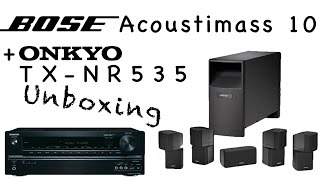 bose acoustimass 10 unboxing onkyo tx nr535 b deutsch hd